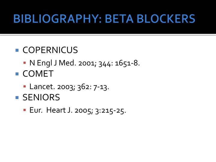 BIBLIOGRAPHY: BETA BLOCKERS