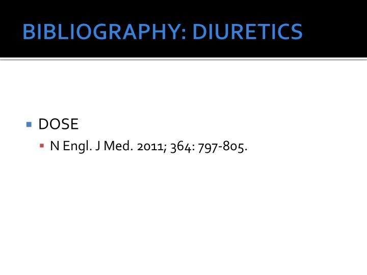BIBLIOGRAPHY: DIURETICS