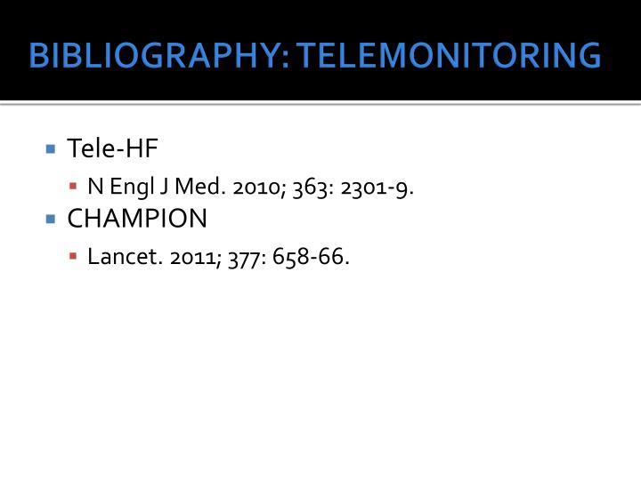 BIBLIOGRAPHY: TELEMONITORING