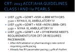 crt 2013 accf aha guidelines class i and iia pearls