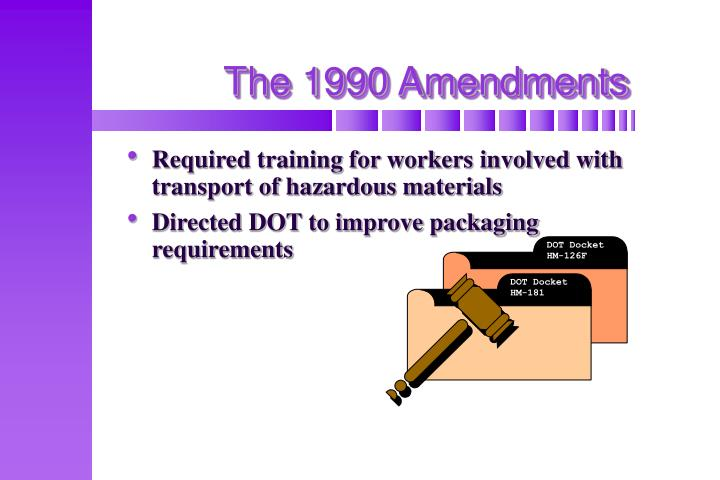 The 1990 Amendments