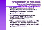 transportation of non doe radioactive materials