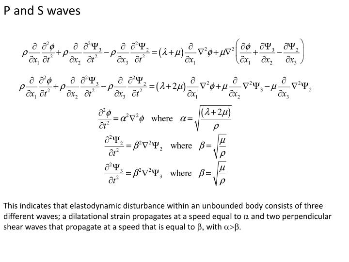 P and S waves