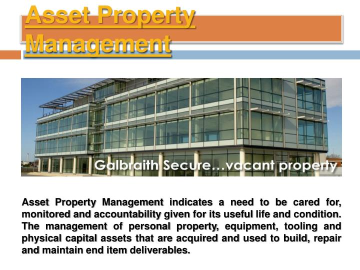 Asset property management