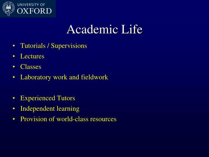Academic Life