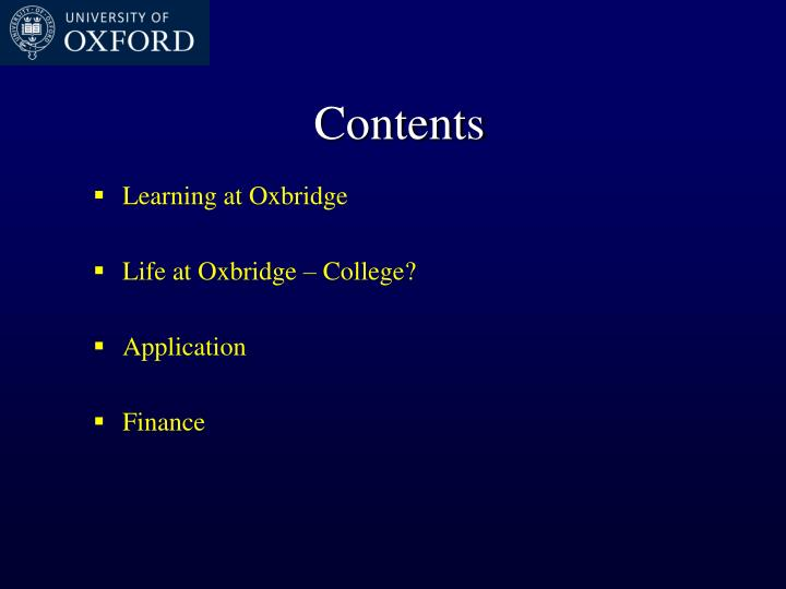 Learning at Oxbridge