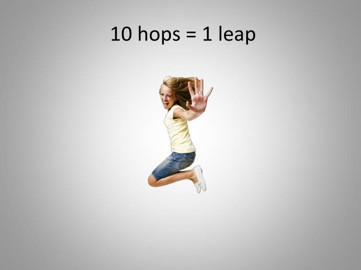 10 hops = 1 leap