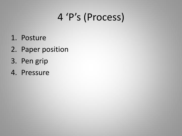 4 'P's (Process)