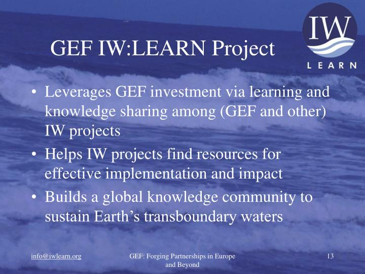 GEF IW:LEARN Project