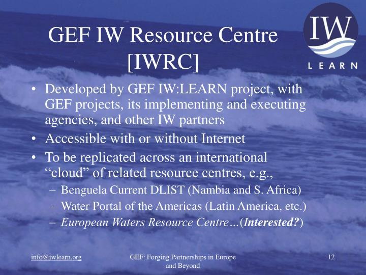 GEF IW Resource Centre [IWRC]