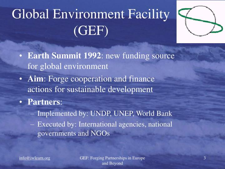 Global environment facility gef