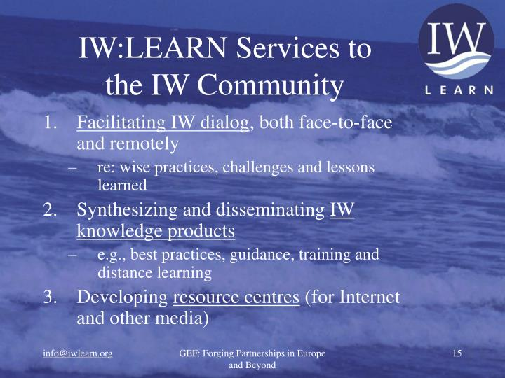 IW:LEARN Services to