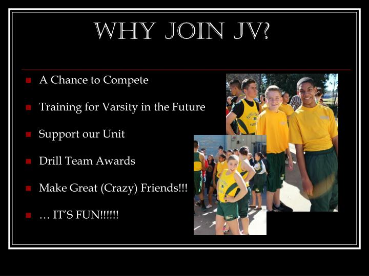 Why join JV?