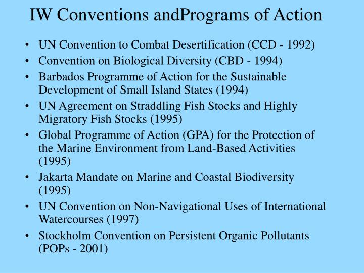 IW Conventions andPrograms of Action