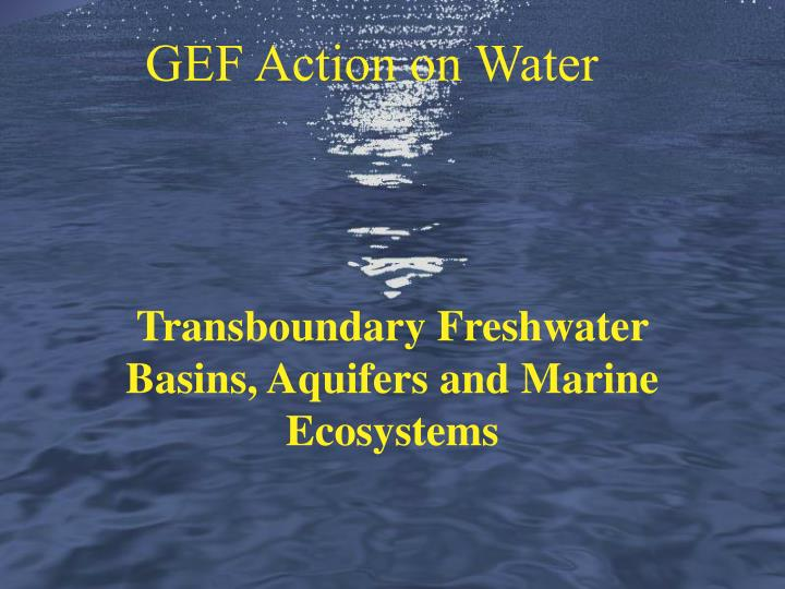 GEF Action on Water