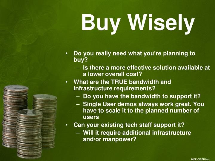 Buy Wisely