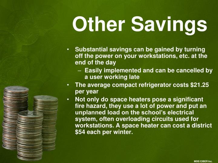 Other Savings