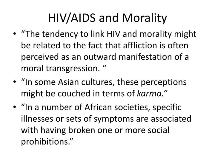 HIV/AIDS and Morality