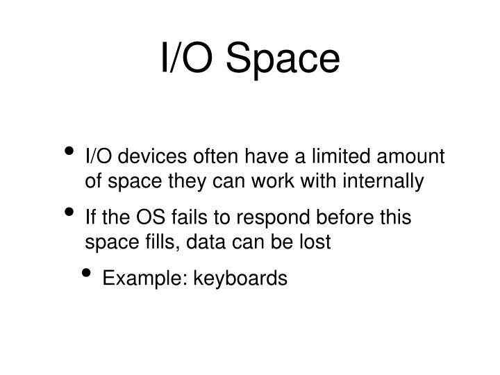 I/O Space