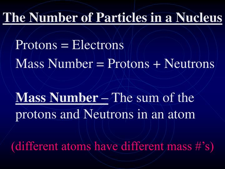Protons = Electrons