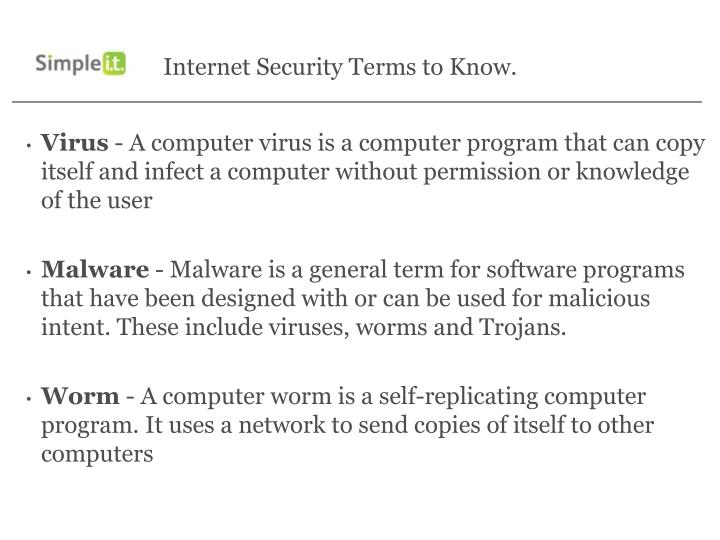 Internet security terms to know