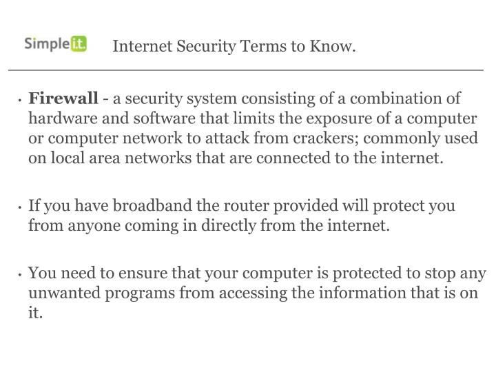 Internet Security Terms to Know.