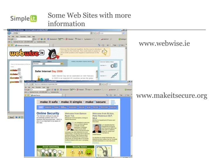 Some Web Sites with more information