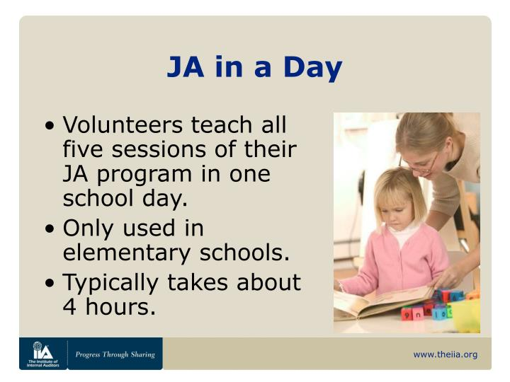 JA in a Day