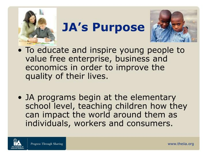 JA's Purpose