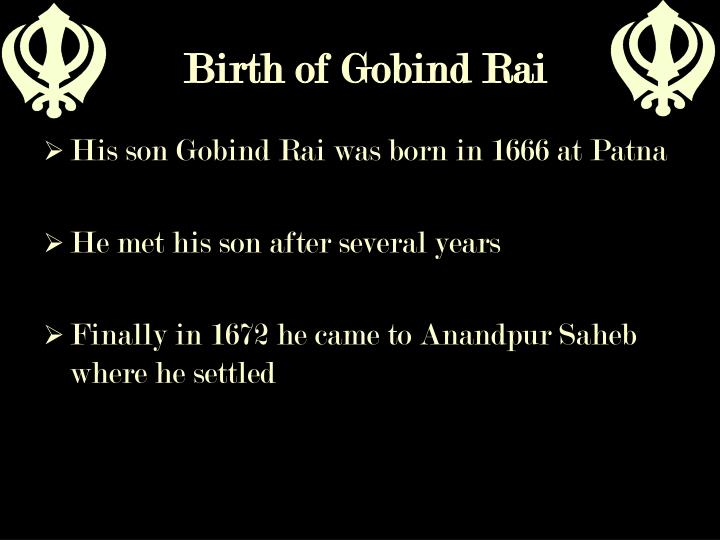 Birth of Gobind Rai