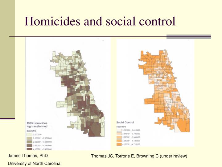 Homicides and social control