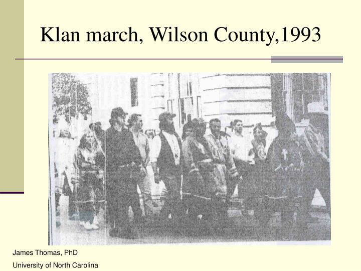 Klan march, Wilson County,1993