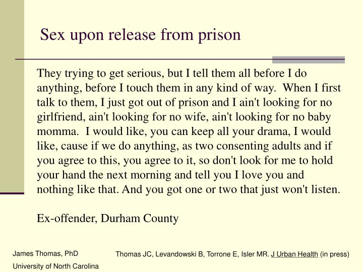 Sex upon release from prison