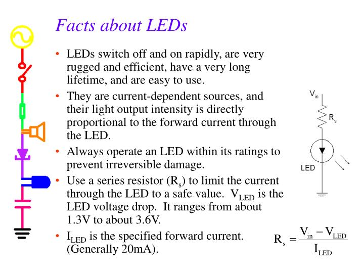 Facts about LEDs