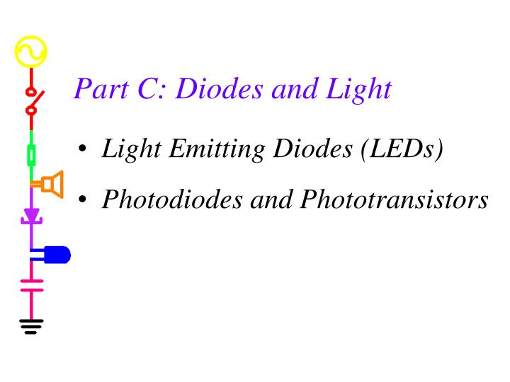 Part C: Diodes and Light