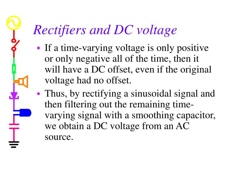 Rectifiers and DC voltage