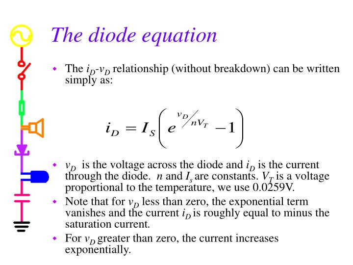 The diode equation