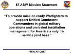 87 abw mission statement