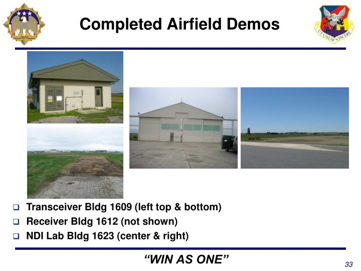 Completed Airfield Demos