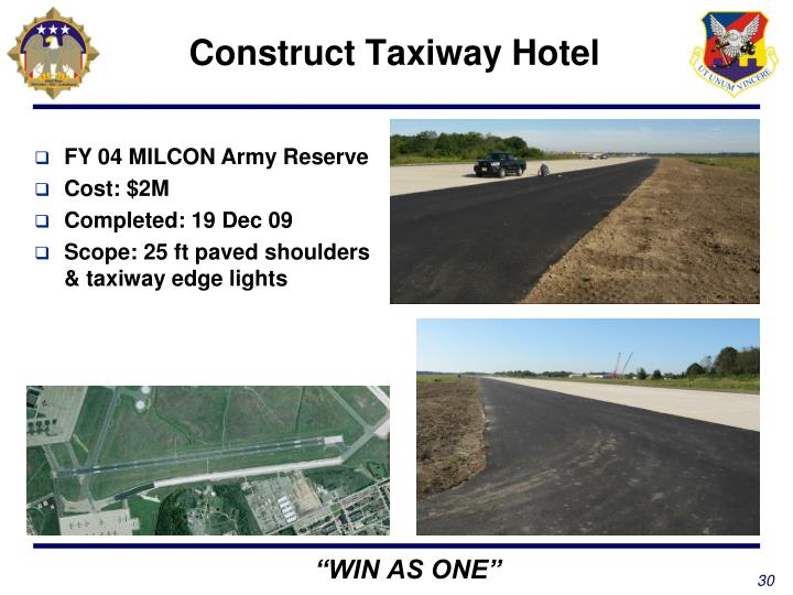 Construct Taxiway Hotel