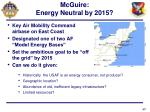 mcguire energy neutral by 2015