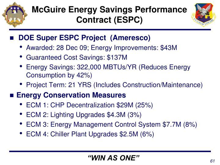 McGuire Energy Savings Performance Contract (ESPC)