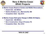 navy marine corps brac projects1