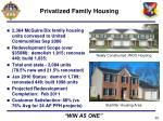 privatized family housing