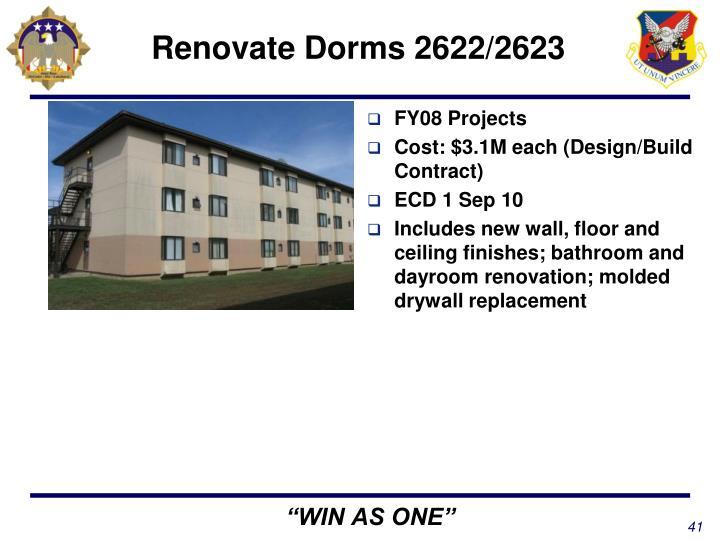 Renovate Dorms 2622/2623