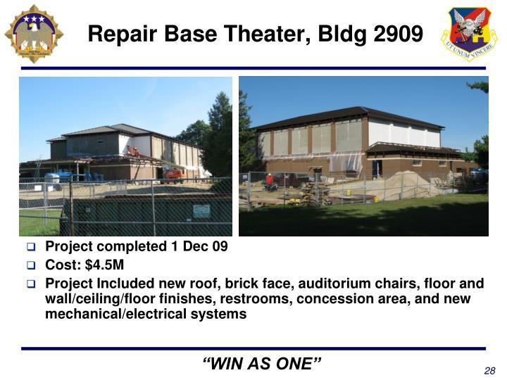 Repair Base Theater, Bldg 2909
