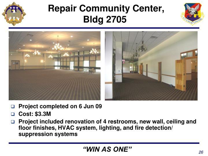 Repair Community Center, Bldg 2705
