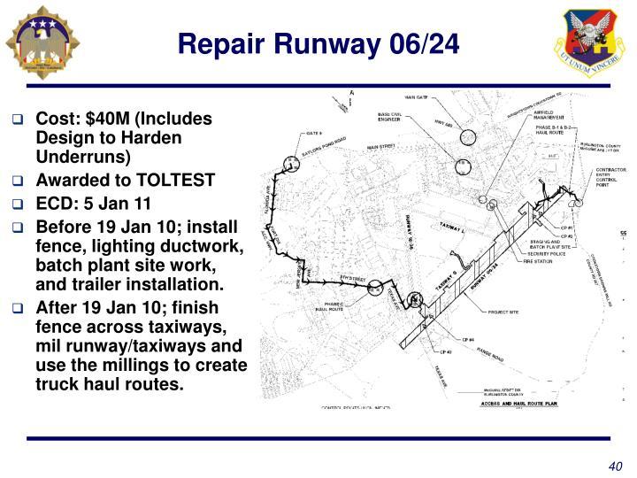 Repair Runway 06/24