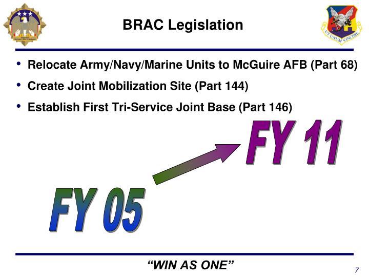 BRAC Legislation