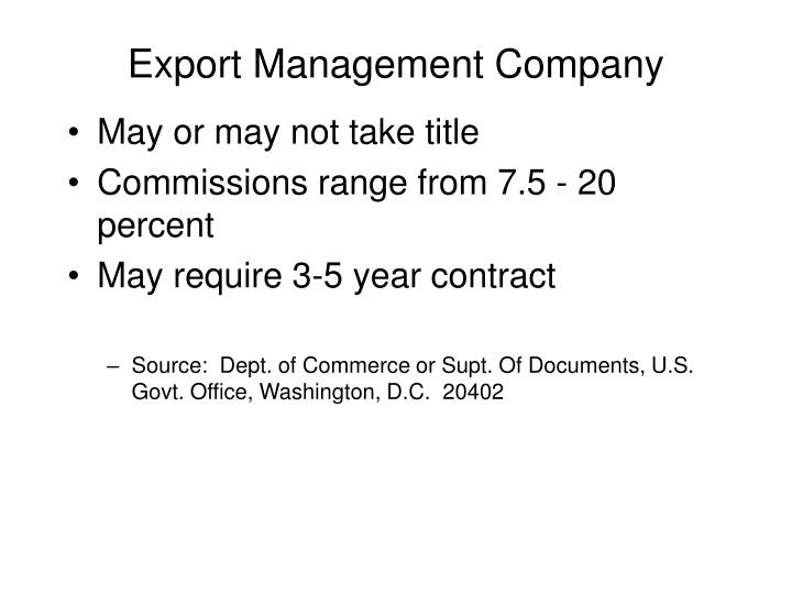 Export Management Company
